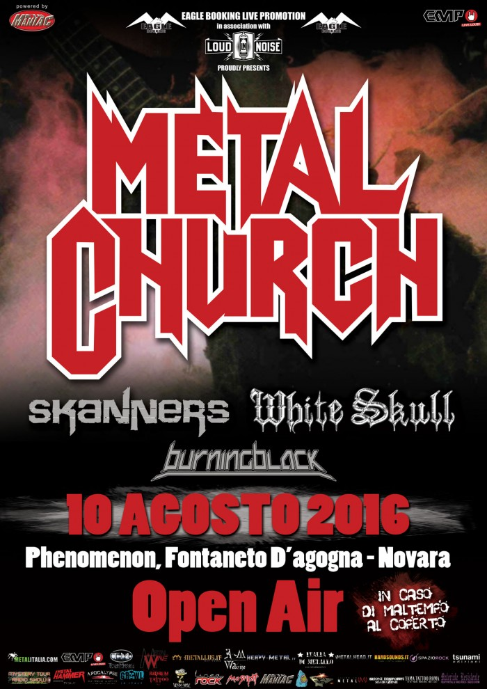 Metal church - locandina novara - 2016