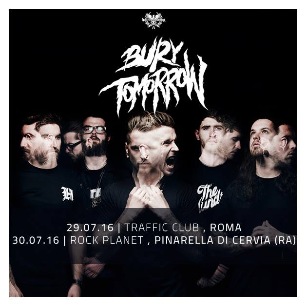 bury tomorrow - date italia - 2016