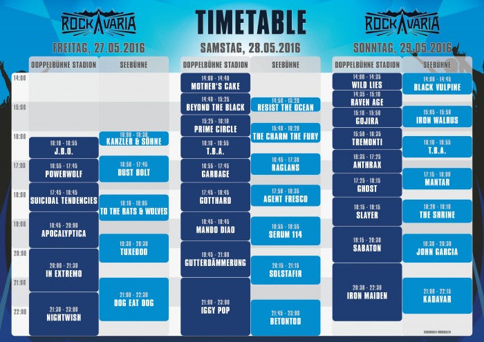 rockavaria-2016-timetable