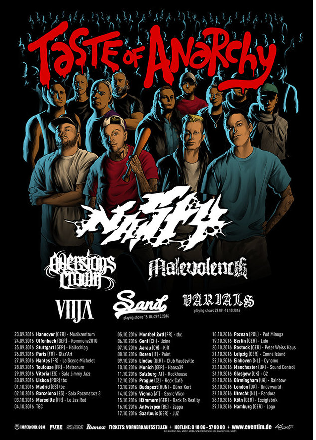 AVERSIONS CROWN - tour europeo autunno - 2016