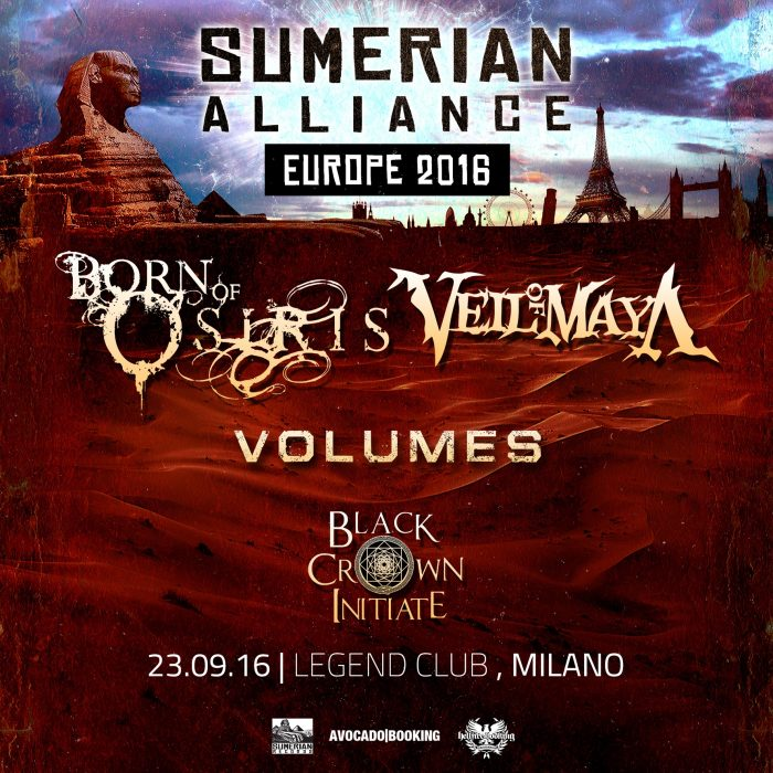 Sumerian Alliance Tour - locandina - 2016