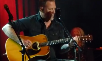 metallica - james hetfield - acustico 2016