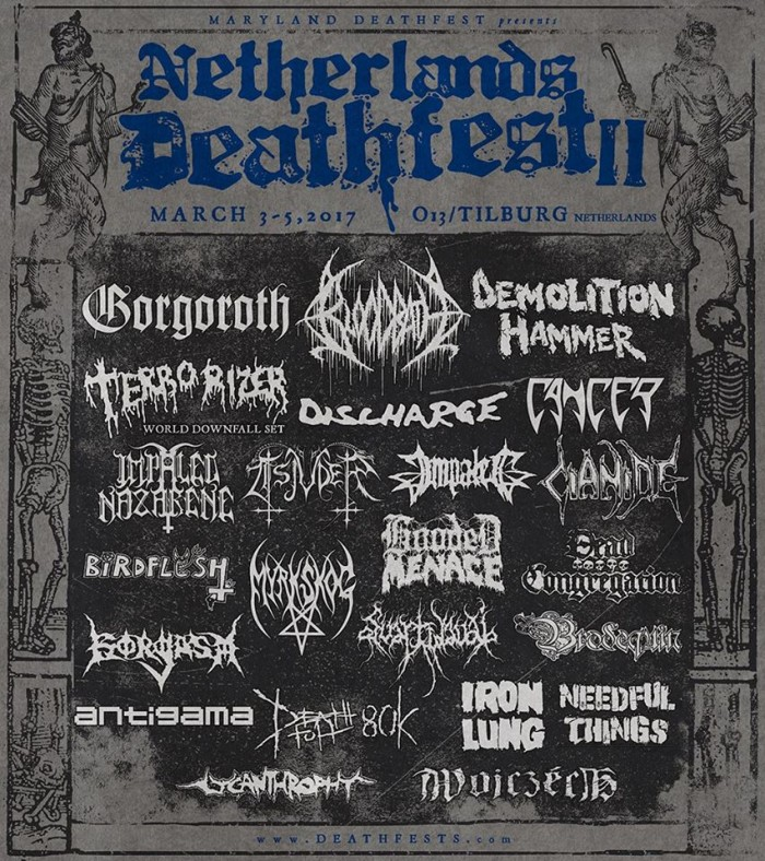 netherlands deathfest II - prima locandina