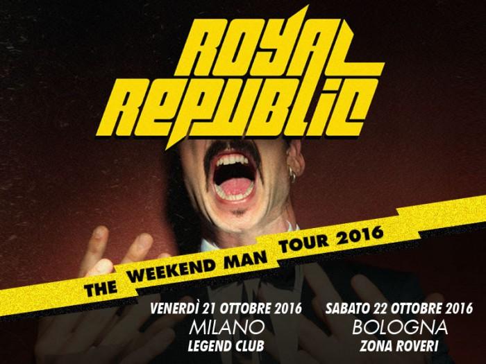 royal republic - tour 2016