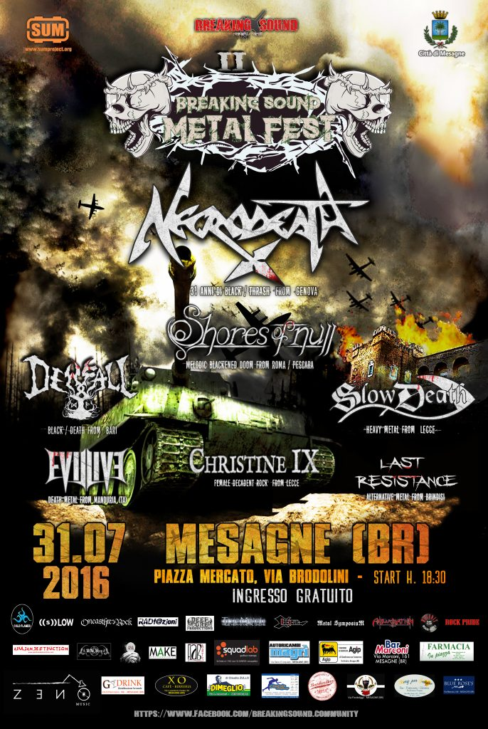 BREAKING SOUND Metal Fest - locandina - 2016