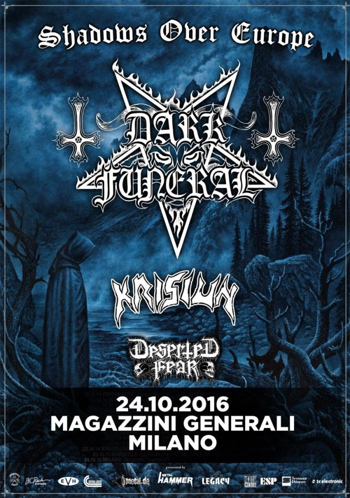 dark funeral - locandina magazzini generali - 2016