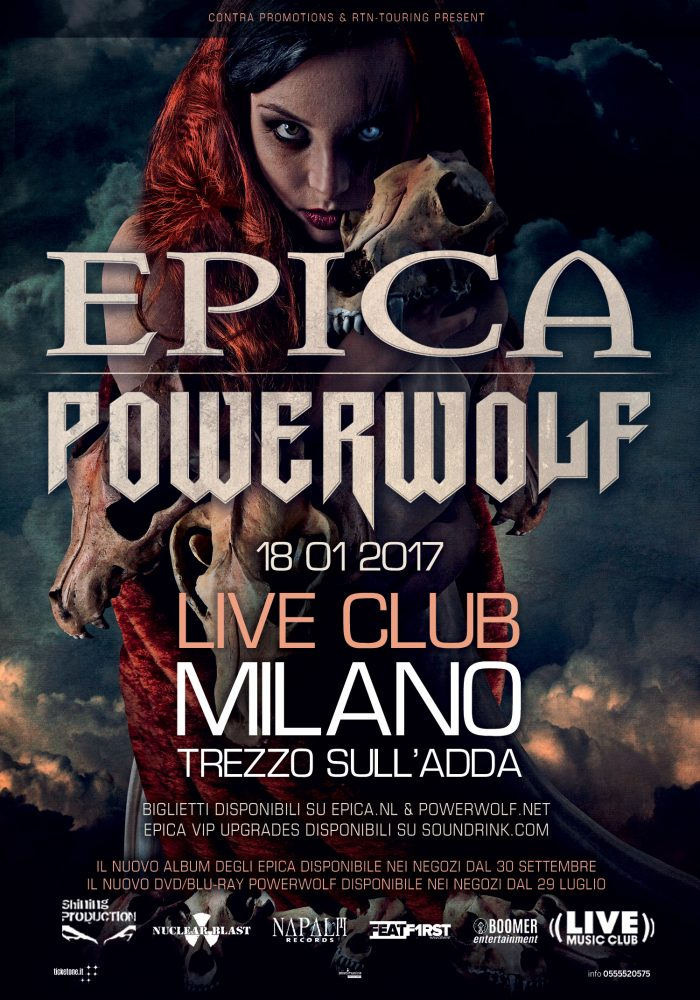 epica powerwolf - live club trezzo milano - 2017