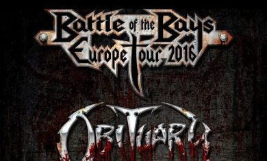 exodus obituary - tour europeo - 2016