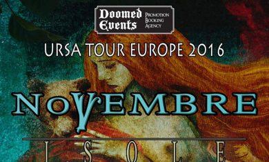 novembre - shores of null - tour 2016