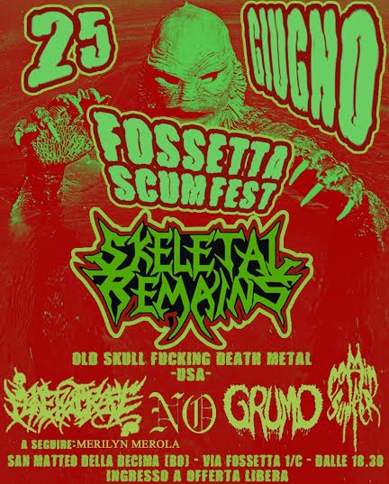 skeletal remains - bologna 2016