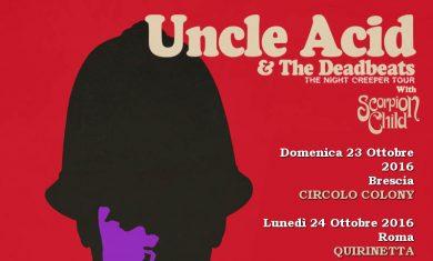 uncle acid - tour 2016