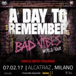 A DAY TO REMEMBER - locandina Milano - 2017