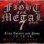 Fight For Metal Fest - locandina 1012 - 2016