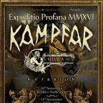 Kampfar - locandina tour - 2016