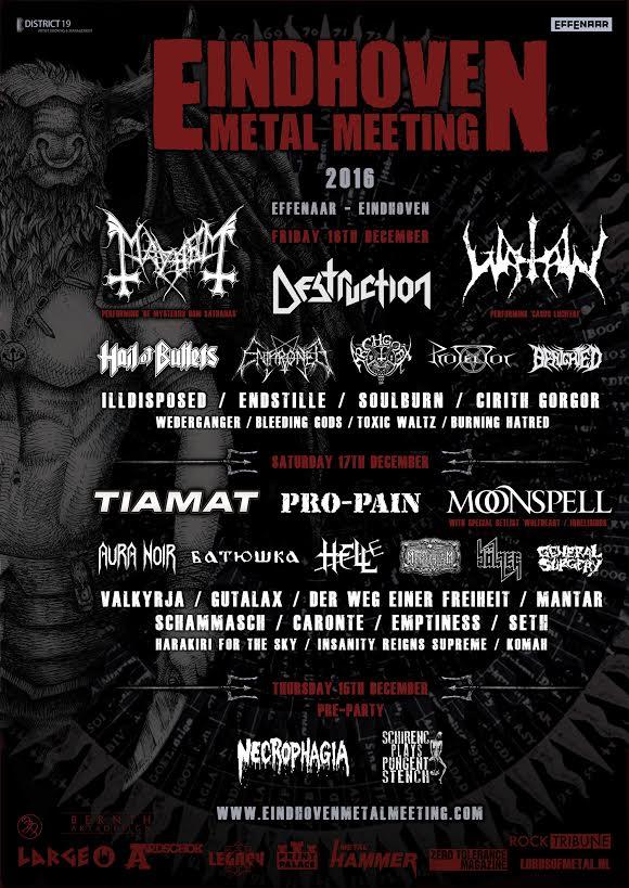 eindhoven metal meeting 2016 - locandina finale