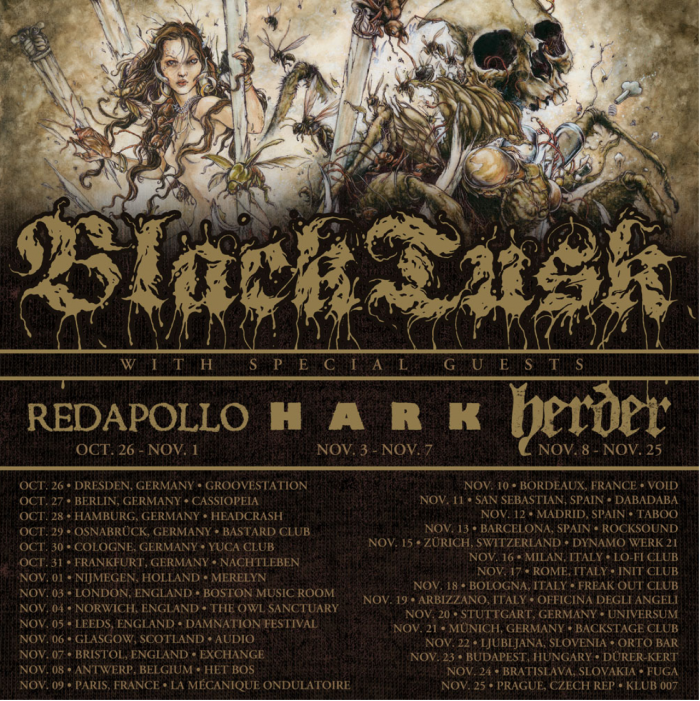 BLACK TUSK - tour europa - 2016