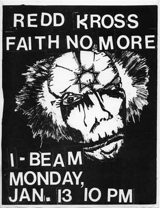 Faith No More- locandinda originale del I-Beam show - 1986