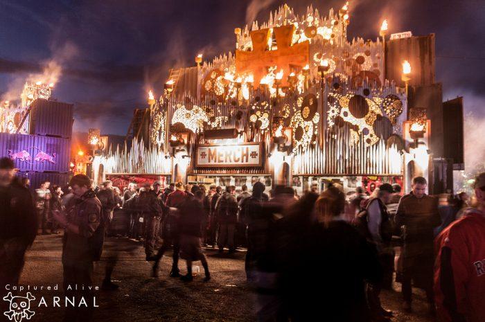 Hellfest 2016 - area merch notturna - 2016