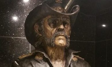 Lemmy - statua - rainbow bar & grill - 2016