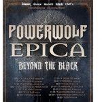 POWERWOLF - EPICA - BEYOND THE BLACK - tour - 2016
