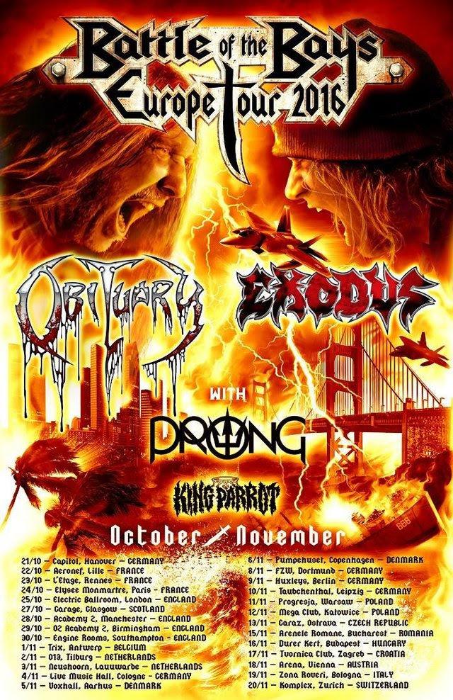exodus obituary - tour 2016