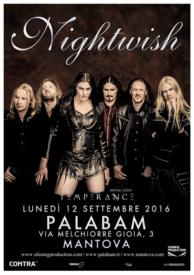 nightwish - palabam mantova locandina definitiva - 2016