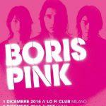 Boris - flyer date italiane 2016 - 2016