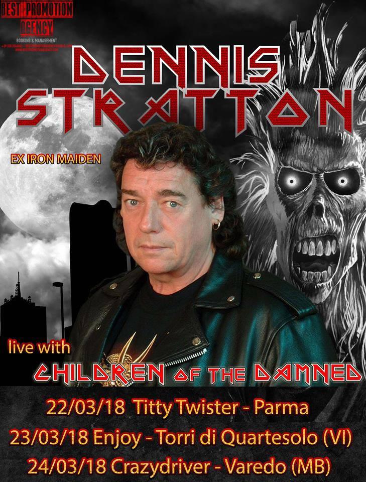 IRON MAIDEN: l'ex chitarrista Dennis Stratton in Italia per tre date