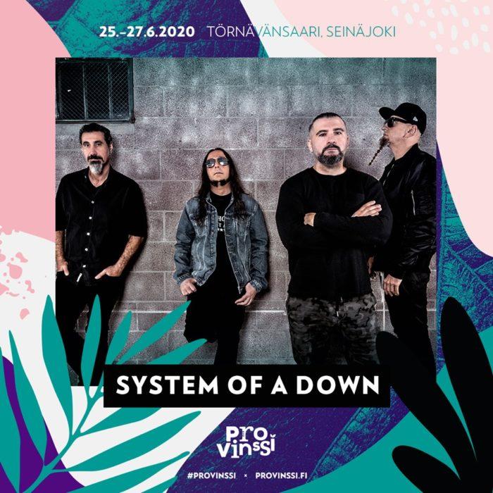 Locandina del concerto finlandese dei System of a Down