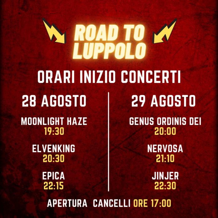 ROAD TO LUPPOLO 2021: gli orari del festival di Cremona con EPICA, JINJER e  altri